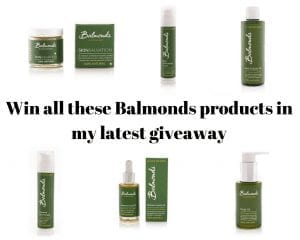 Win all these Balmonds products in my latest giveaway