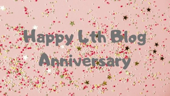 Happy 4th Blog Anniversary
