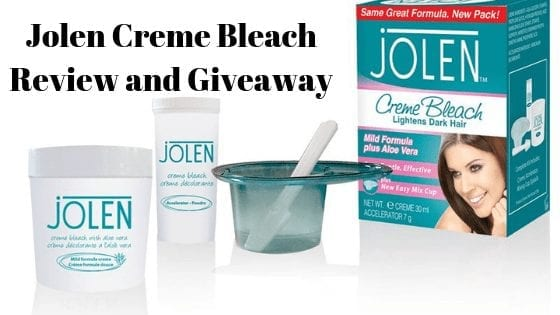 Jolen Creme Bleach Review and Giveaway