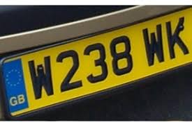 old style number plate