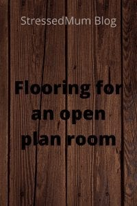 Flooring for an open plan room