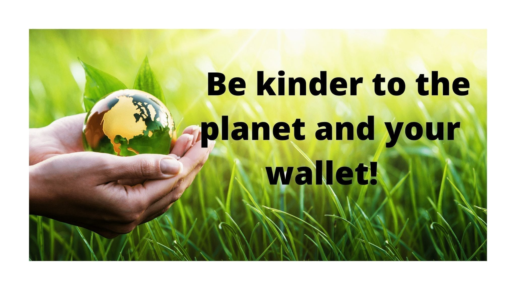 Be kinder to the planet and your wallet!